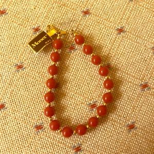 Monet red beaded bracelet